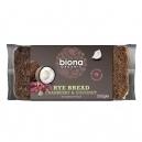 Ψωμί Σίκαλης με Κράνμπερι & Καρύδα (500γρ)