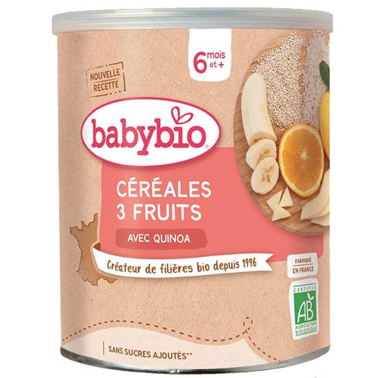 Κρέμα Δημητριακών με Κινόα & Φρούτα +6μ (220γρ)