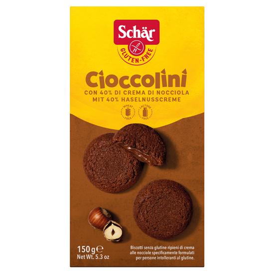 Σοκολατένια Μπισκότα με Πραλίνα Φουντουκιού Χωρίς Γλουτένη (150γρ)