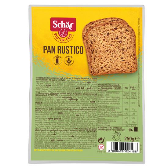 Πολύσπορο Ψωμί 'Pan Rustico' χωρίς γλουτένη σε φέτες (250γρ)