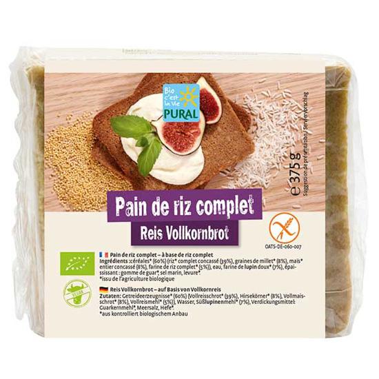 Ψωμί Ρυζιού ολικής σε φέτες χωρίς γλουτένη (375γρ)